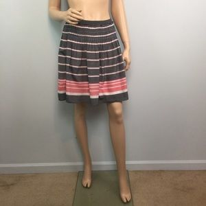 Max Studio Striped Gray Skirt Medium